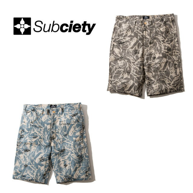 サブサエティー LINEN HAWAIIAN SHORTS