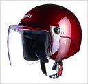 【リード工業】 apiss AP-603 セミジェットヘルメット キャンディーレッド /LEAD アピス