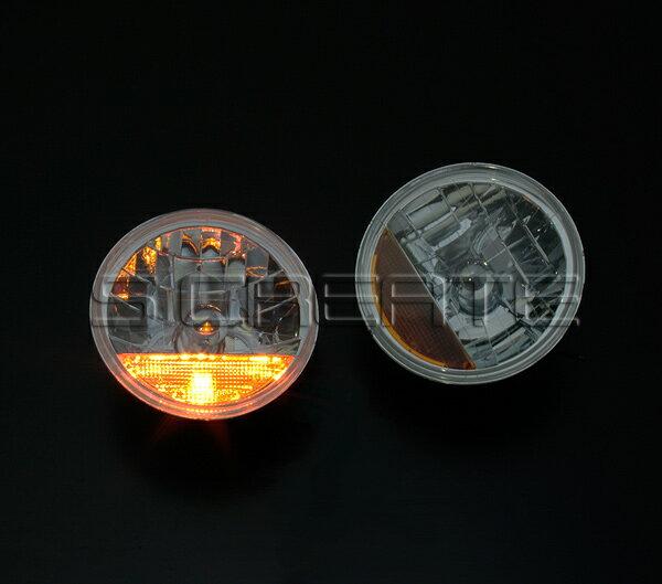 デュアルスパーク!丸型クリスタルガラスヘッドライト+オレンジレンズ/ダットサン・サニー