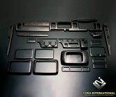 (ルナインターナショナル) ハイエース 200系 1〜3型(標準) マホガニー調黒木目 (25ピース[25P]) 3D立体インテリアパネル / パネル 内装 インパネ