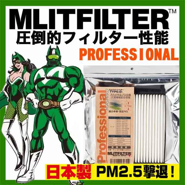 エムリット フィルター プロフェッショナル アルトラパン HE21用 エアコンフィルター MLITFILTER 純正品番95860-81A10