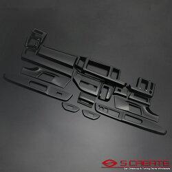 ステップワゴンRK系3Dパネル17ピースピアノブラック/インテリアウッドパネル/内装/インパネ