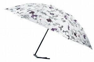 ジル スチュアート 日傘 折りたたみ 傘 レディース ブランド JILL STUART リーフ デザイン グレー ライラック 50cm 女性 婦人 UV 晴雨兼用 遮光 遮熱 【あす楽】