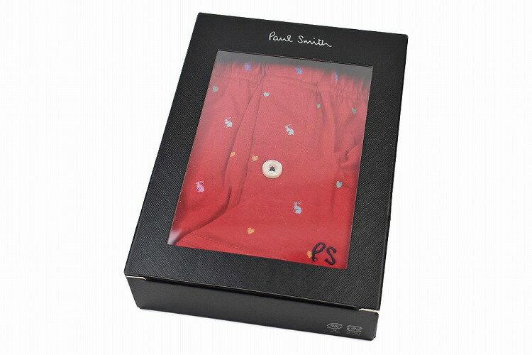 ポールスミスニットトランクスパンツメンズブランドPaulSmith専用箱付ハートラビットデザインMLLLレッド赤男性紳士30-3215【あす楽】
