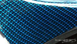 ハイエース200系セレクトインポートパーツ・フロントタイヤハウスカバーカーボンルックブルー綾織り※柄の拡大です。