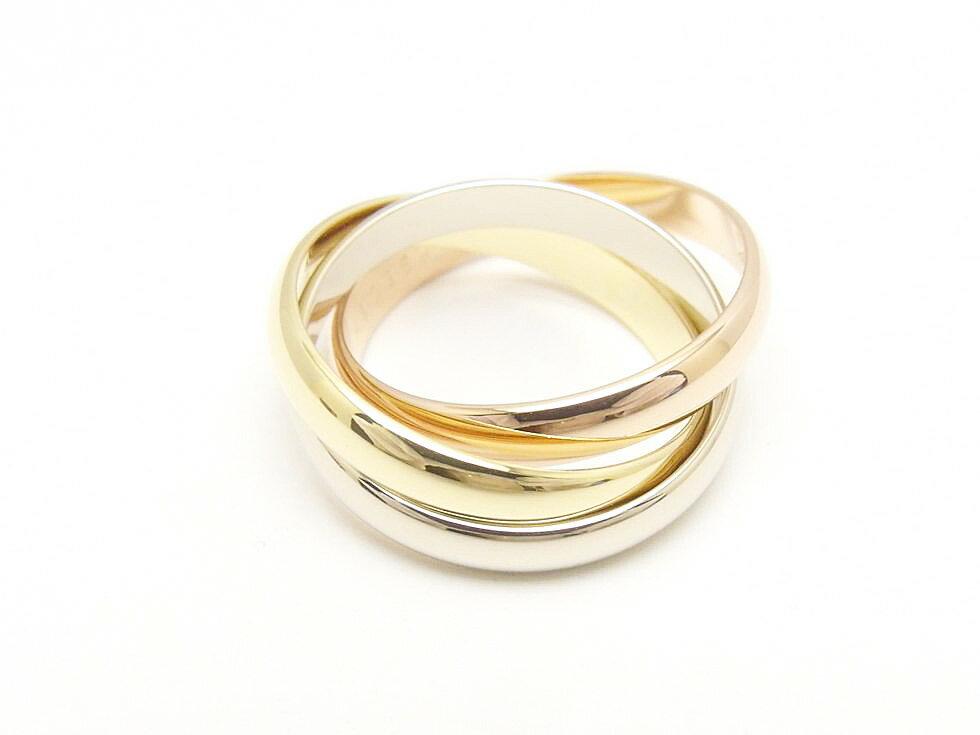 レディースジュエリー・アクセサリー, 指輪・リング Cartier K18YGPGWG 54