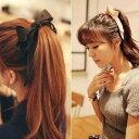 ヘッドドレス 髪飾り リボン 大きい シンプル ヘアゴム ティアラ か...