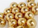 1粒売り ギベオン 隕石 10mm イエローゴールド 金色 パワーストーン バラ...