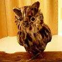 """あなたの部屋が森になる★福を呼ぶフクロウ★""""森の番人""""ふくろうのオブジェ置物PUEBCO Owl ブ..."""