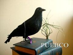 PUEBCO(プエブコ) Crow L320 リアルなカラスオブジェ 置物 鳥 黒 剥製ではありません!...