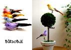 小鳥のオブジェS(置物)ディスプレイにカラー:パープル・ピンク・オレンジ・イエロー・グリーン・ブルーから