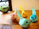 小鳥のオブジェS4匹セット(置物)ディスプレイにカラー:ブルーグリーンピンクイエロー小鳥雑貨
