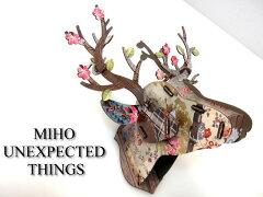 カラフルな北欧デザイン シカの壁飾りBonsai MIHO mini148 DesigninItaly MDF板を組み立てて作る鹿オブジェ 雑貨通販【RCP】