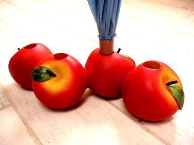 可愛いアンブレラキーパー(傘立て) 赤リンゴ ナチュラルテイストアップルりんご【RCPsuper1...