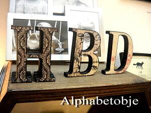 ダマスク柄アラベスク柄ペイズリー柄いろいろ♪アンティーク木製アルファベットオリエンタル風...