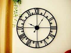 大きくてインパクトあり!アイアンダイヤルラージクロック アンティークでシャビーな時計雑貨...