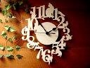 各時刻にネコのシルエット★ウォールクロック 掛時計 ネコ ホワイト雑貨 通販【SBZcou1208】