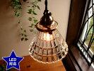 アンティーク調ガラスペンダントランプ▲601灯灯具ホワイトレトロE17電球プチペンダントライト吊り下げ照明【RCP】
