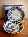 御祝いギフトに♪Coucheプレートセット BL 北欧風花柄食器お皿スプーン ギフト新築祝い内祝...
