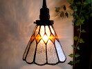 レトロアンティーク調ステンドグラスペンダントランプ07ブルー系灯具真鍮色E17ヨーロピアンモダンフレンチカントリーガラス照明ペンダントライト