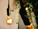 【激安】ON/OFF切替スイッチ付き!ノスタルジック古塗装E26ソケットランプシェード1灯アルミ製真鍮風塗装ペンダントランプ灯具/LED電球対応シャビーフレンチアンティークヨーロピアンゴシック♪レトロペンダントライト裸電球【RCP】