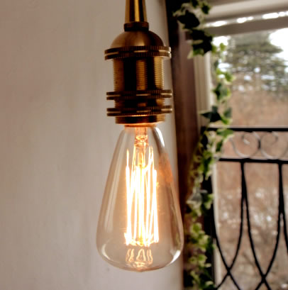 ★E17口金レトロエジソン電球40W レトロ電球バルブ電球白熱電球レトロ球アンティーク型1灯裸電球に