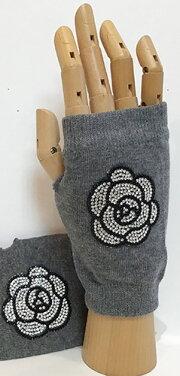 甲部分にキラキラ輝く指出し♪キラキラ輝く☆手袋(グローブ)カメリア2色