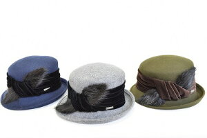 ウール帽体帽子レディース婦人ハット/ROBERTideaロベルトイデアR58864/イタリア製秋冬