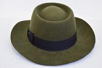紳士帽子(中折)(ウール・テレス型・カーキ)【楽ギフ_包装】