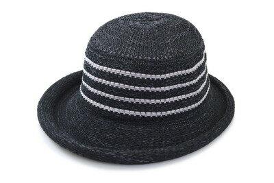 ハット 2239002 ブラック 黒 レディース 婦人 メッシュ 帽子 紫外線対策 日よけ UVケア 熱中症対策 洗える ポケッタブル 折りたためる 小さいサイズ 軽量 ファッション オシャレ カジュアル シンプル 母の日 プレゼント ネット通販 春夏
