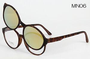 マグネット式偏光ミラーサングラス伊達眼鏡度入れメガネ度付加工可MN送料無料