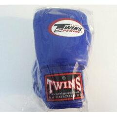 新TWINS ツインズ 本革製キックボクシング グローブ 青 16オンス