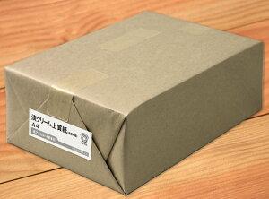 自費出版・保存書類におすすめ!目に優しい淡クリームの紙淡クリーム上質紙<55kg>A4 4000枚...