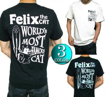 Tシャツ メンズ フィリックス・ザ・キャット Felix サーフボード 刺繍/プリント 半袖 トップス