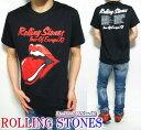 ローリングストーンズ Tシャツ メンズ/レディース ヨーロッパツアー73 ベロ 半袖 ROLLING STONES ロック/ROCK メンズファッション トップス ミュージック