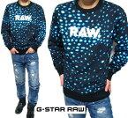 G-STARRAWジースターロウトレーナーメンズドット/レオパード/豹柄スウェットS-L