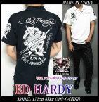 EDHARDYエド・ハーディーエドハーディー半袖ポロシャツ刺繍/プリント/USA/スカルメンズドクロSkullスカルポロシャツメンズファッショントップス