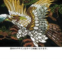和柄刺繍スカシャツイーグル/鷲オール刺繍メンズ祭りメンズファッショントップスカジュアルシャツ