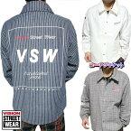 コーチジャケットシャツ/ブルゾンメンズストライプ/チェックヴィジョンVISIONSTREETWEARストリート