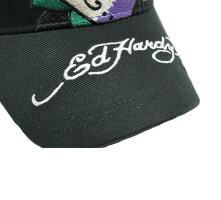 エドハーディーedhardyエド・ハーディーキャップメッシュハート刺繍帽子野球帽ベースボールキャップブラック