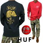 HUF/ハフTシャツメンズロンT長袖子年/干支/十二支プリントメンズファッショントップスカットソー
