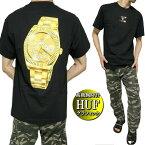 HUF/ハフTシャツメンズ半袖ビッグ/高級腕時計プリントメンズファッショントップスカットソー