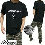 RoenロエンメンズTシャツ半袖ドクロ/スカルLEGENDARYSKULLブラックS-XLROA-005