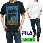 FILA/フィラエヴァンゲリオン/EVANGELIONTシャツグラデーションメンズ/レディースユニセックスヴィレ/ネルフ/WILLE/NERVブラックホワイトS-XL