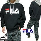 FILAフィラstapleステイプルコラボパーカーメンズ/レディース長袖ブラック/フードグレーサイズS-XL