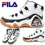 FILAフィラスニーカーシューズ/靴メンズバッシュハイカットグランドヒル1タルボスHERITAGEF4076ホワイト/ブラック/フィラレッド