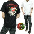 エドハーディーedhardyTシャツメンズ背中/ラブキル/スカル/ドクロ半袖ブラック/ホワイトサイズM-XL