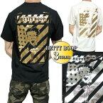 ベティーブープTシャツメンズポケットモノクロ/セクシー星条旗セクシー半袖ブラック/ホワイトbettyboopM-XL