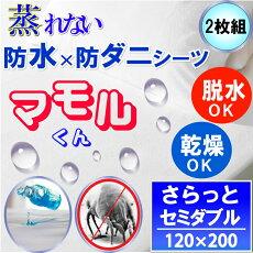 【防ダニ効果プラス】蒸れない防水シーツせっと(セミダブル)135x200cm