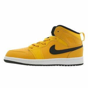 064588aaa3819f  NIKE ナイキ  AIR JORDAN エア ジョーダン キッズ 靴 スニーカー イエロー 黄色 NIKE JORDAN 1 MID PS  (キッズ)700ナイキ エア ジョーダン 1 ミッド PS 64073.